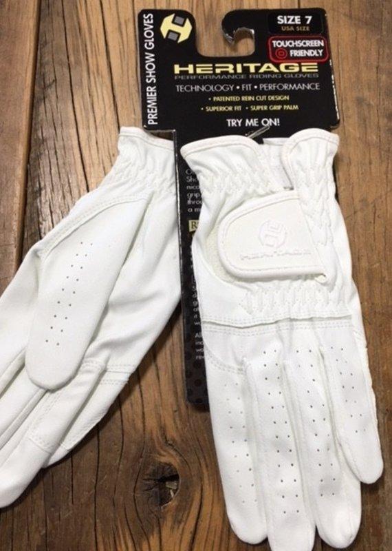 Heritage Gloves Heritage Premier White Show Gloves