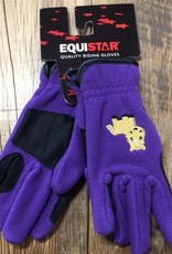 Equistar Equistar Youth Purple Fleece Gloves