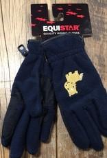 Equistar Equistar Youth Navy Fleece Gloves