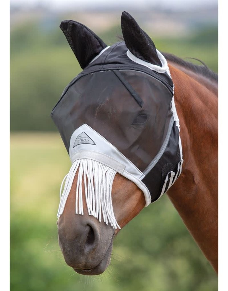 Shires Shires Small Pony  Fine Mesh Fly Mask With Nose Fringe