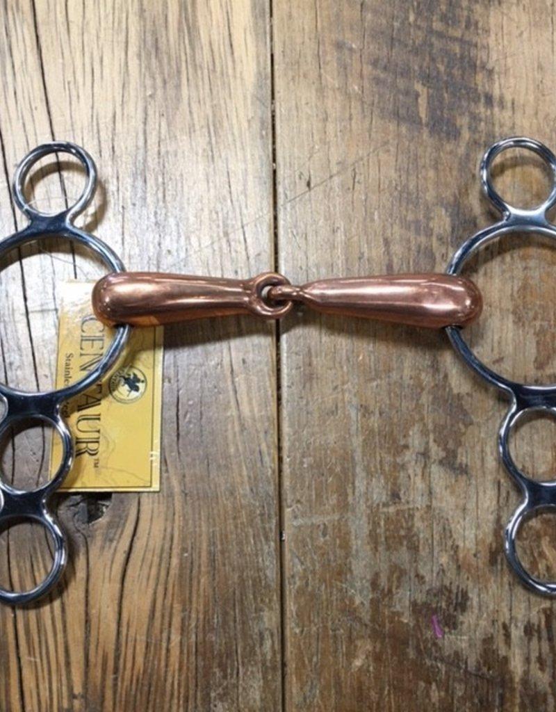 Centaur Centaur Hollow 3 Ring Copper Gag Bit