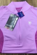 Ariat Ariat Women's Cambria Jersey 1/4 Zip Short Sleeve Meadow Mauve