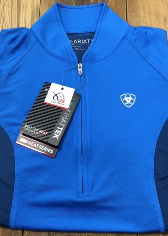 Ariat Ariat Women's Cambria Jersey 1/4 Zip Short Sleeve Imperial Blue