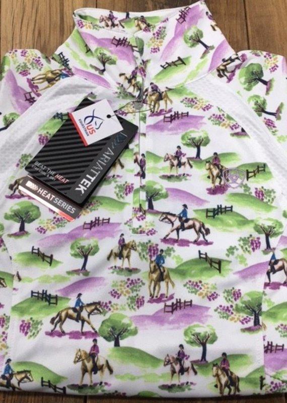 Ariat Ariat Women's Sunstopper 2.0 1/4 Zip Long Sleeve Cross Country Print