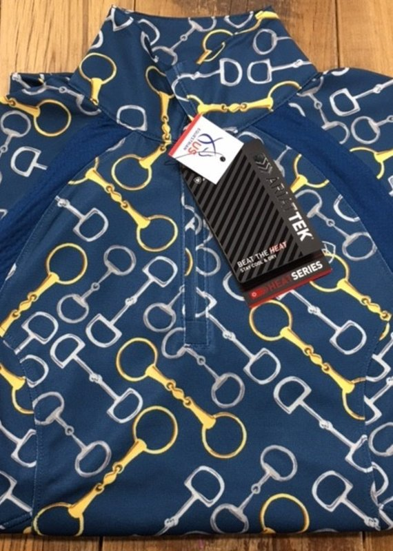 Ariat Ariat Sunstopper 2.0 1/4 Zip Long Sleeve Blue Opal Bits