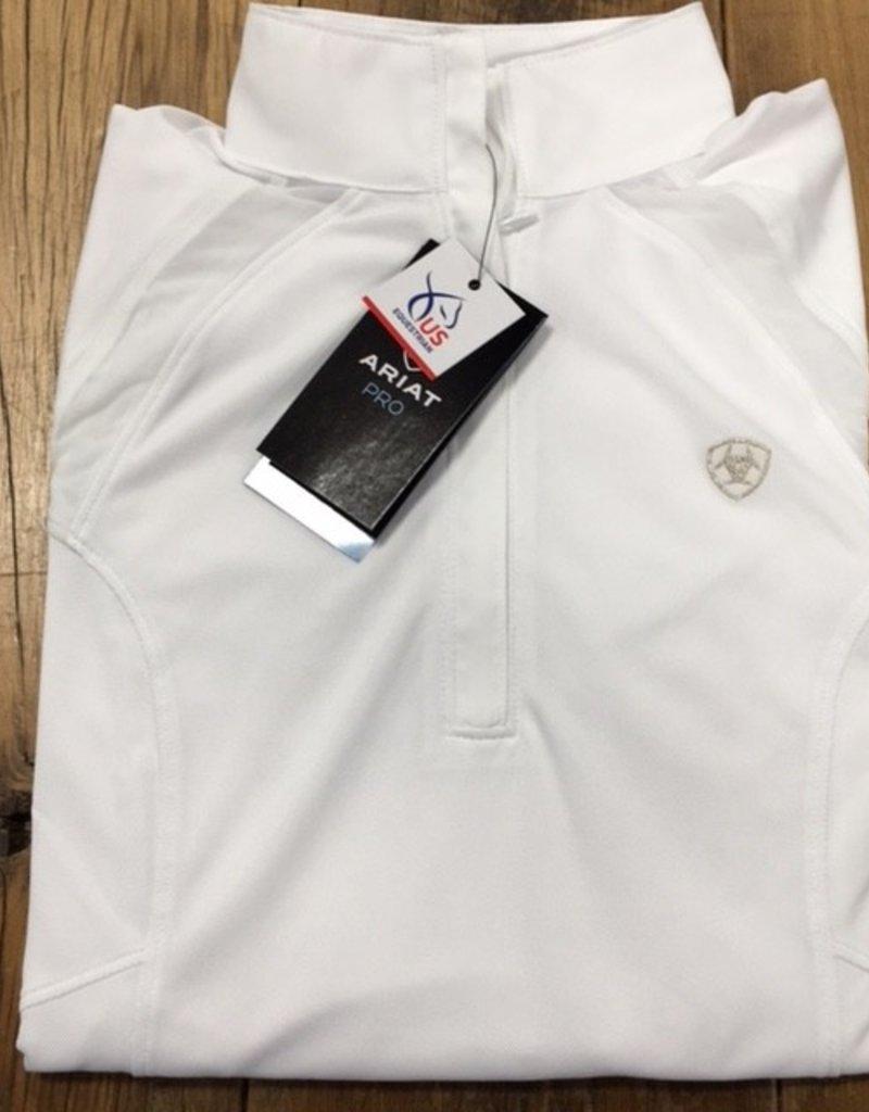 Ariat Ariat Women's Sunstopper Pro 2.0 1/4 Zip White Show Shirt