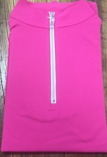 The Tailored Sportsman The Tailored Sportsman Ladies Icefil Short Sleeve Barbie Pink/ Silver White
