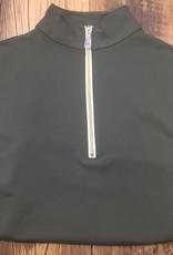The Tailored Sportsman The Tailored Sportsman Ladies Icefil Short Sleeve Loden Green/ Gold White