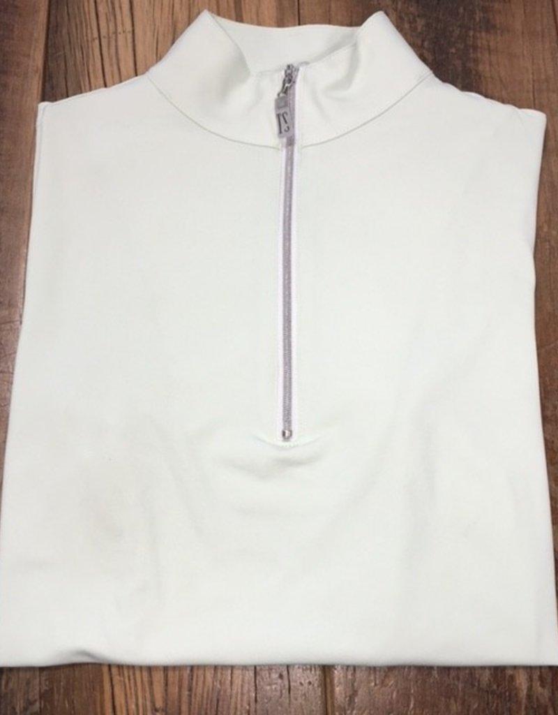 The Tailored Sportsman The Tailored Sportsman Ladies Icefil Short Sleeve Celadon/ Silver White