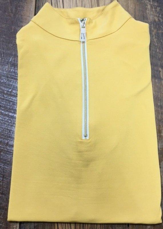 The Tailored Sportsman The Tailored Sportsman Ladies Icefil Short Sleeve Amber/ Gold White