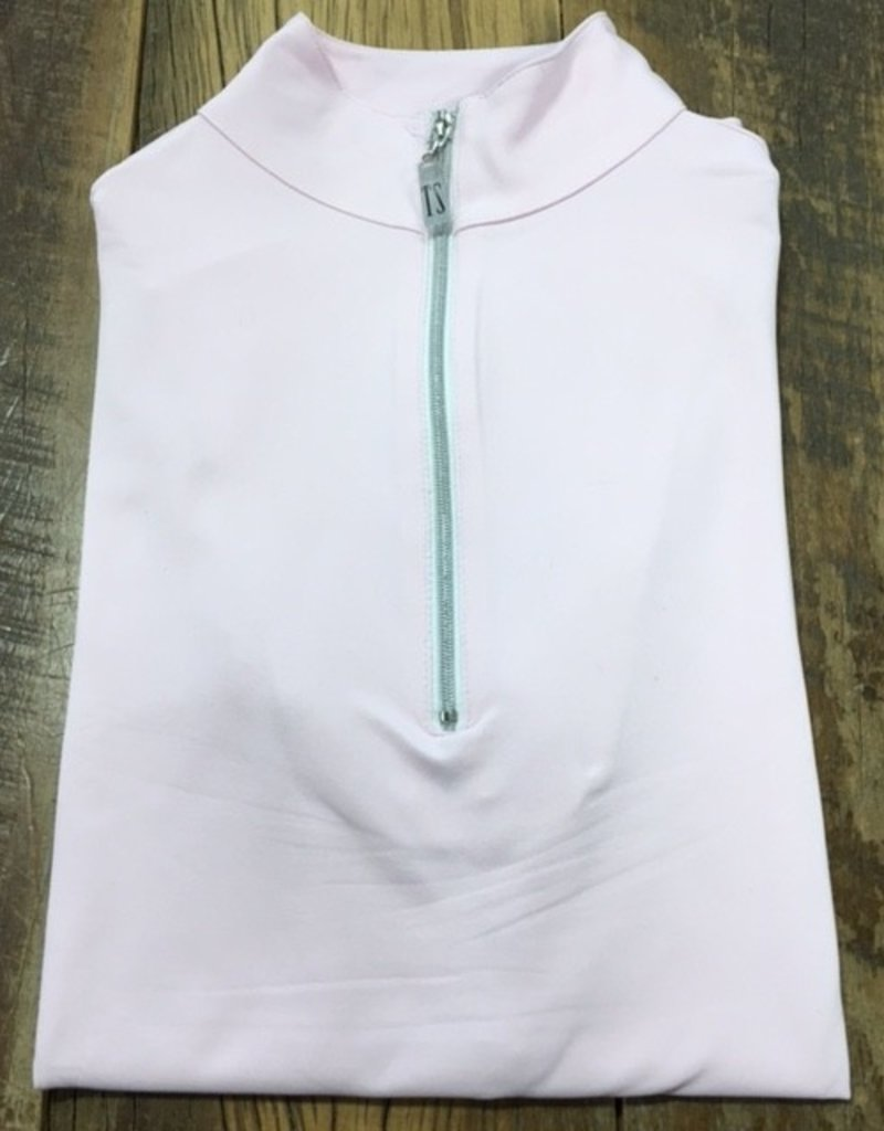 The Tailored Sportsman The Tailored Sportsman Ladies Icefil Short Sleeve Ice Pink/ Silver White