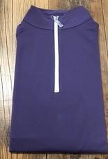 The Tailored Sportsman The Tailored Sportsman Ladies Icefil Long Sleeve Purple Heart/ White