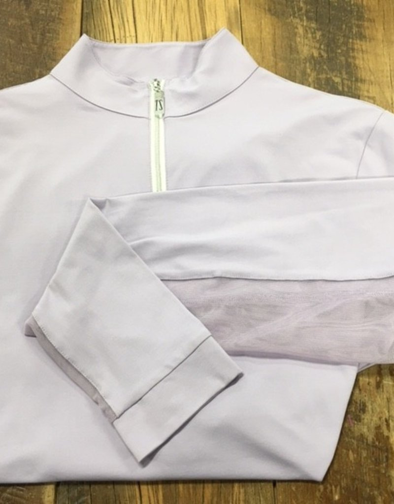 The Tailored Sportsman The Tailored Sportsman Ladies Icefil Long Sleeve Soft Purple/  Silver White