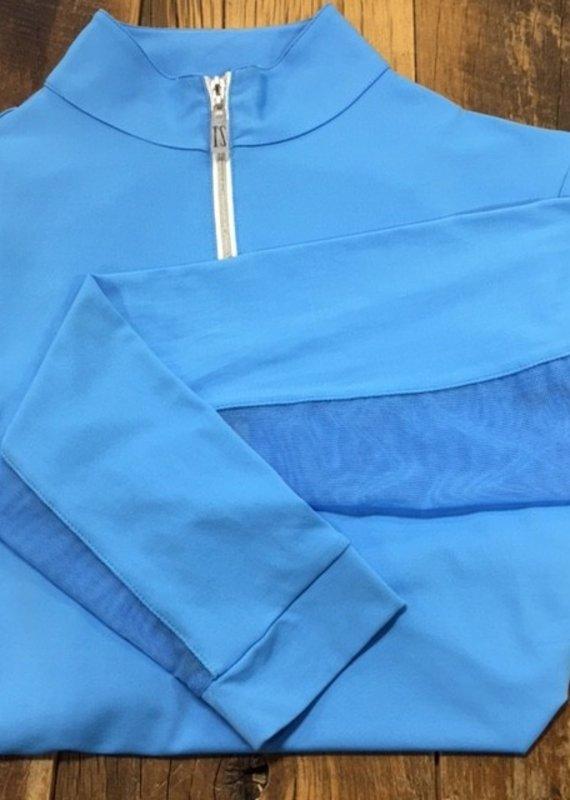 The Tailored Sportsman The Tailored Sportsman Ladies Icefil Long Sleeve Amalfi Blue/ Silver White