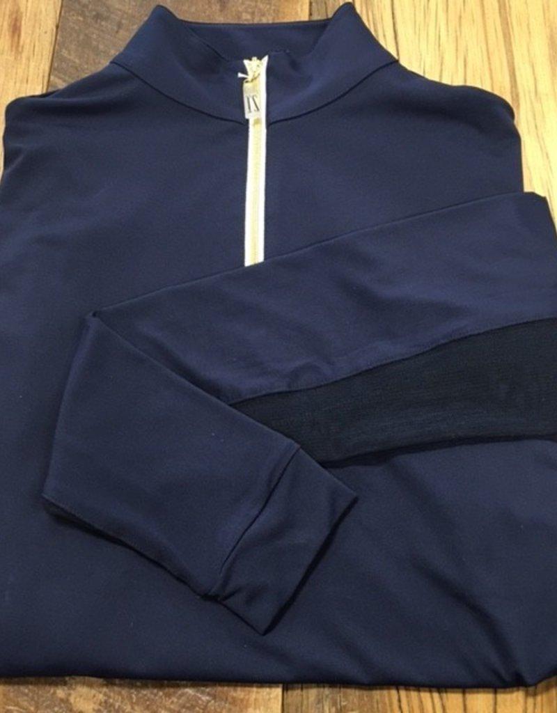 The Tailored Sportsman The Tailored Sportsman Ladies Icefil Long Sleeve Navy/ Gold White