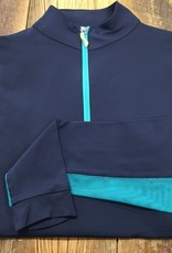 The Tailored Sportsman The Tailored Sportsman Ladies Icefil Long Sleeve Navy/ Turquoise