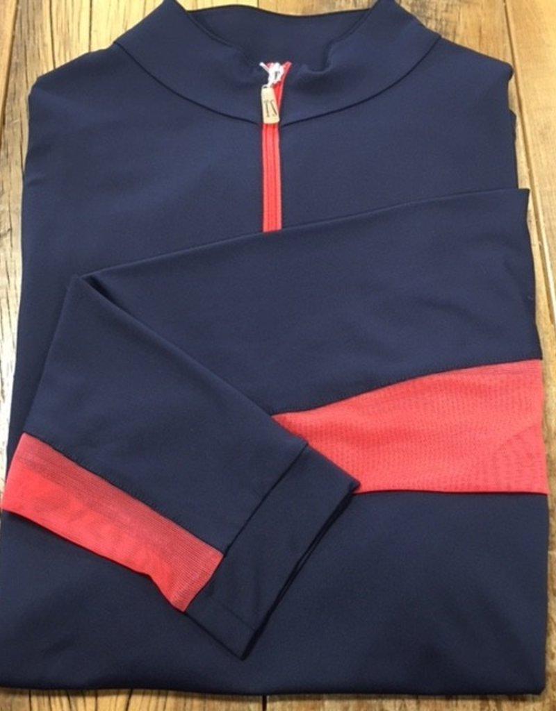 The Tailored Sportsman The Tailored Sportsman Ladies Icefil Long Sleeve Navy/ Stawberry
