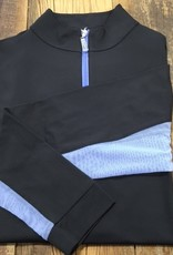 The Tailored Sportsman The Tailored Sportsman Ladies Icefil Long Sleeve Black/ Iris