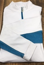 The Tailored Sportsman The Tailored Sportsman Ladies Icefil Long Sleeve White/ Blue Streak
