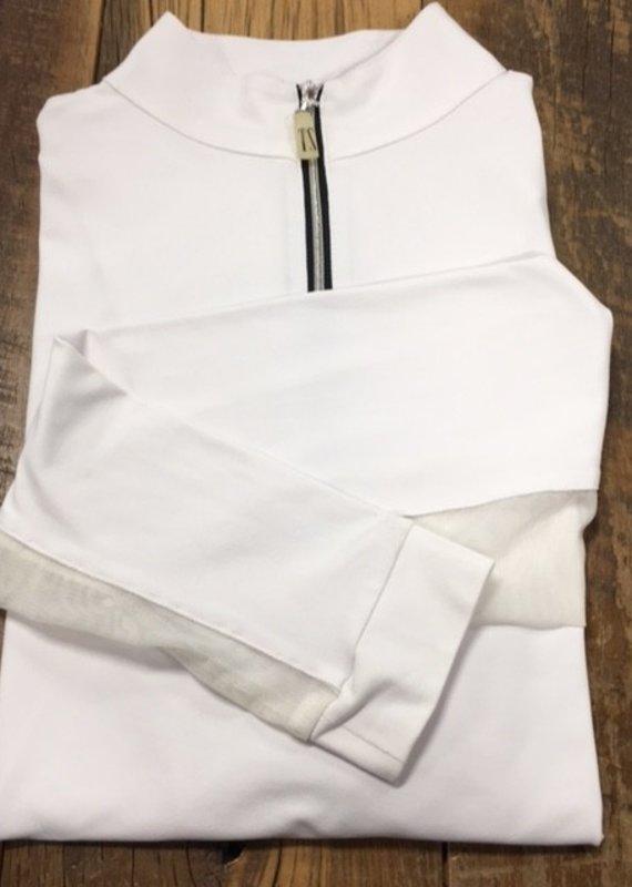 The Tailored Sportsman The Tailored Sportsman Ladies Icefil Long Sleeve White/ Silver Black