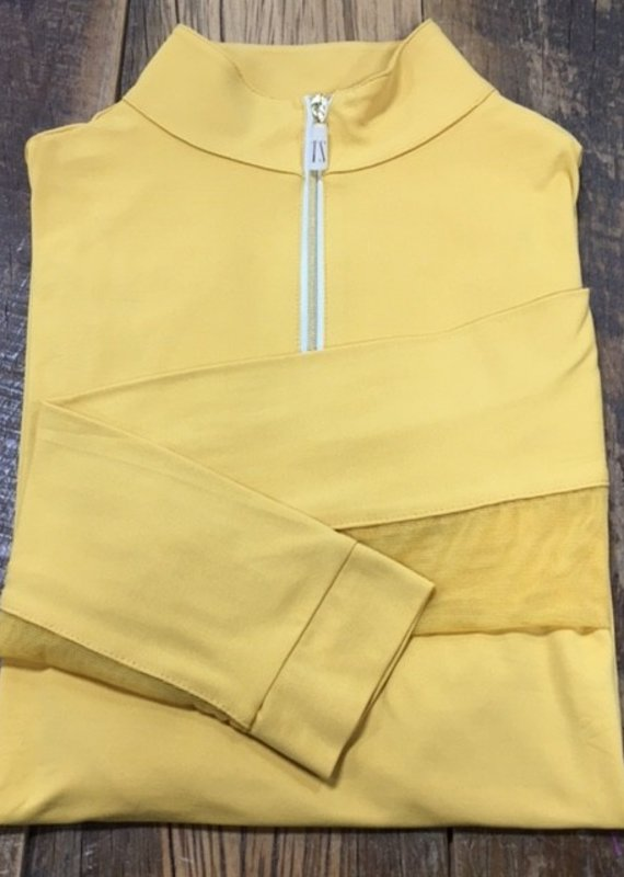 The Tailored Sportsman The Tailored Sportsman Ladies Icefil Long Sleeve Amber/ Gold White
