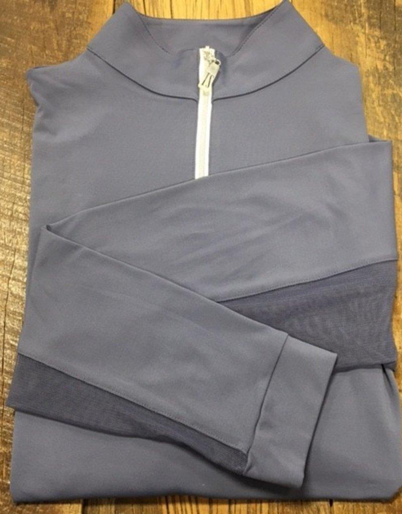 The Tailored Sportsman The Tailored Sportsman Ladies Icefil Long Sleeve Hyacinth/ Silver White
