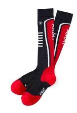 Ariat Women's AriatTek Slimline Performace Socks Navy/Red