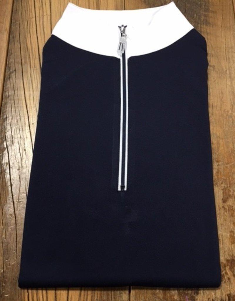 The Tailored Sportsman The Tailored Sportsman Ladies Icefil Long Sleeve Navy/ Navy White
