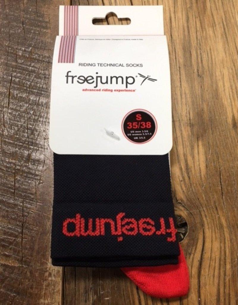 Free Jump Riding Technical Socks Black/ Red