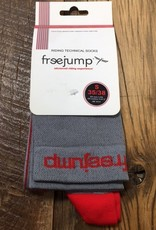 Free Jump Riding Technical Socks Gray/ Red