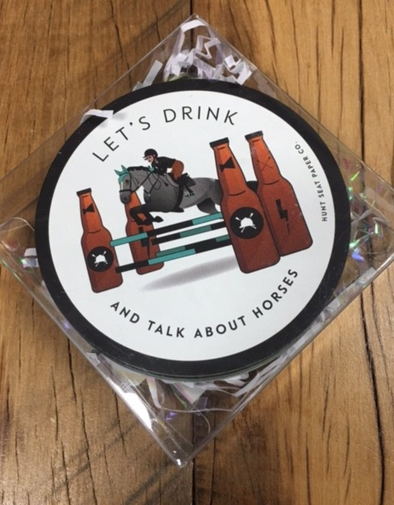 Hunt Seat Paper Co. Lets Drink And Talk About Horses 20 Pack Coasters