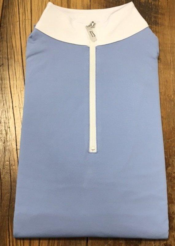 The Tailored Sportsman The Tailored Sportsman Ladies Icefil Long Sleeve Artic Blue/ White