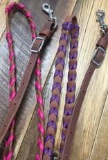 "Martin  Saddlery Martin Saddlery Barrel Reins 3/4"" Colored Lace"