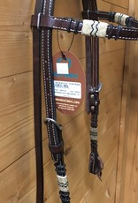 Weaver Leather Weaver Turquoise Cross Rawhide Headstall With Browband