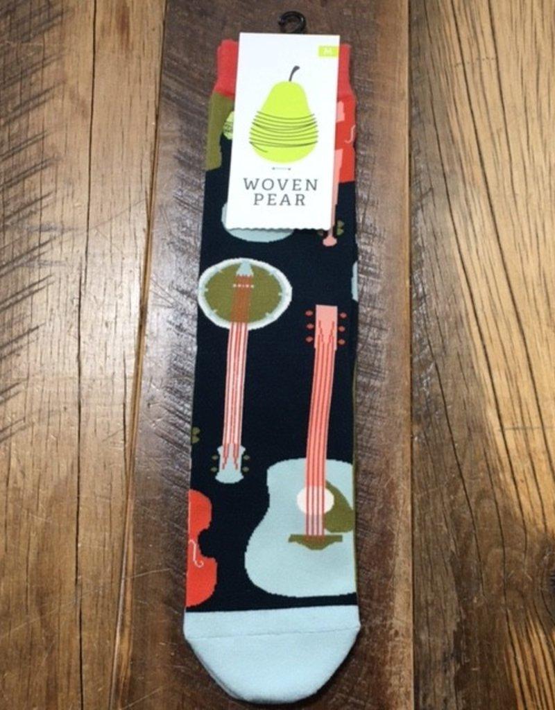 Woven Pear Woven Pear Folk Yeah Crew Socks