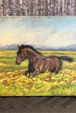 Primitives By Kathy Horses In A Field Painting