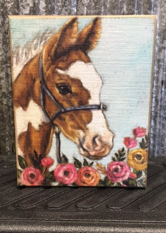 Primitives By Kathy Box Sign 'Floral Foal'