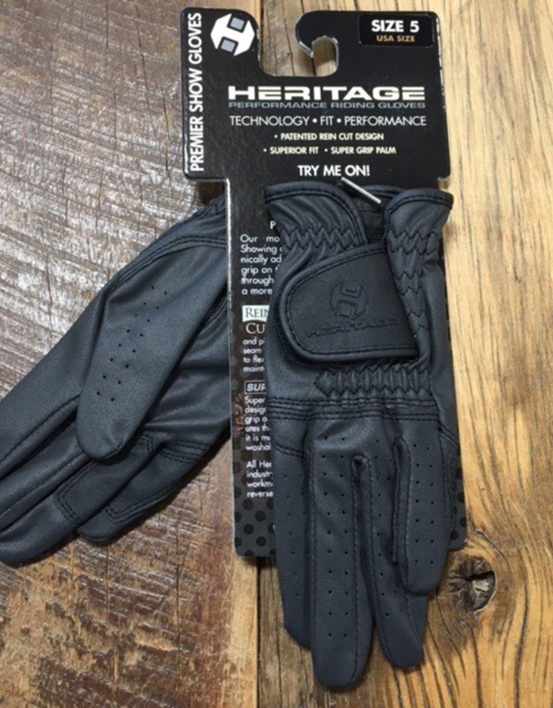 Heritage Gloves Heritage Kids Premier Black Show Gloves