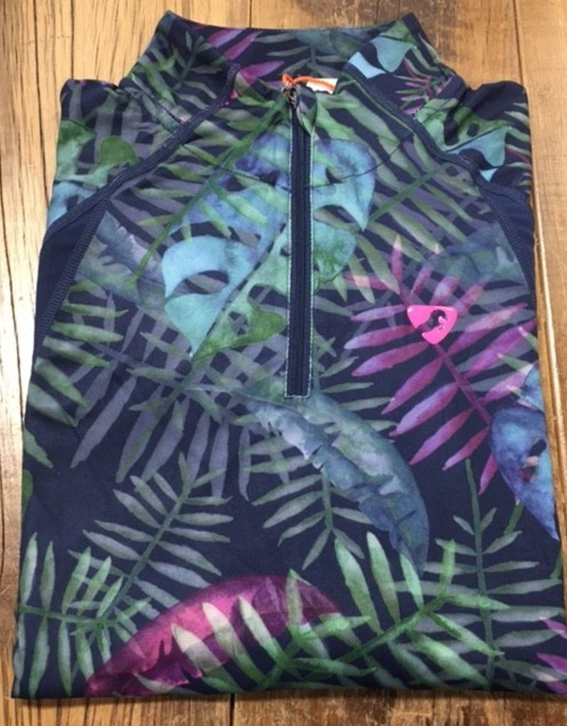 Shires Aubrion Girl's Newbury Short Sleeve Sun Shirt Tropical