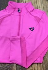 Shires Aubrion Girls Newbury Long Sleeve Sun Shirt Pink
