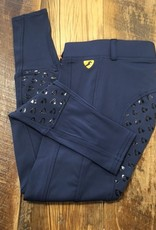 Shires Aubrion Albany Girls Riding Tights Navy