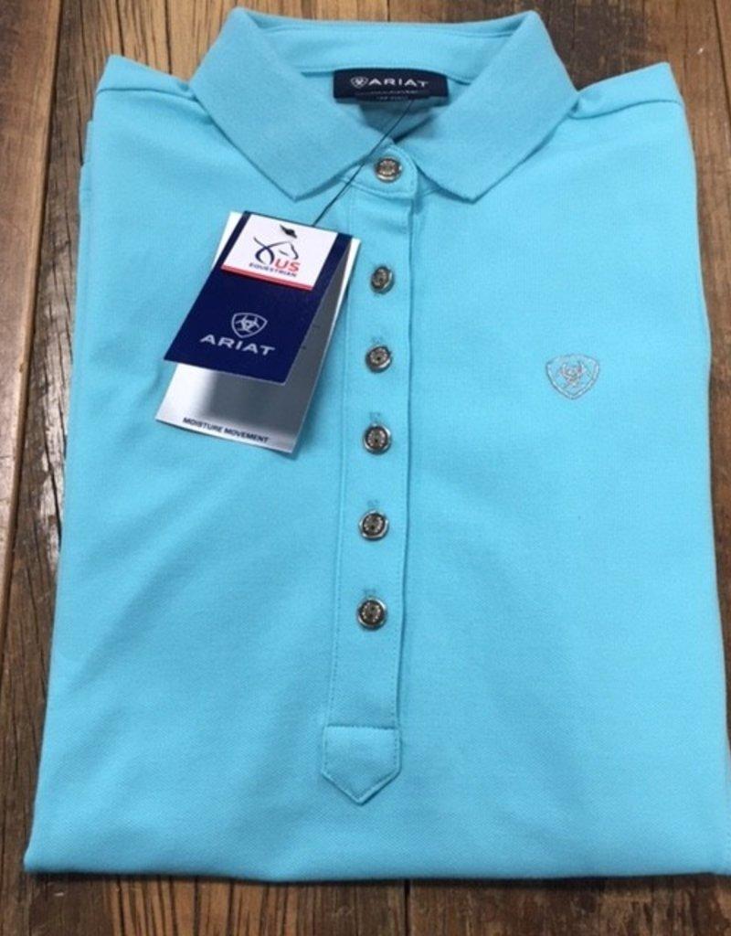 Ariat Ariat Women's Prix 2.0 Sleeveless Polo Shirt Cool Blue