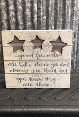 Primitives By Kathy Box Sign 'Good Friends Are Like Stars'
