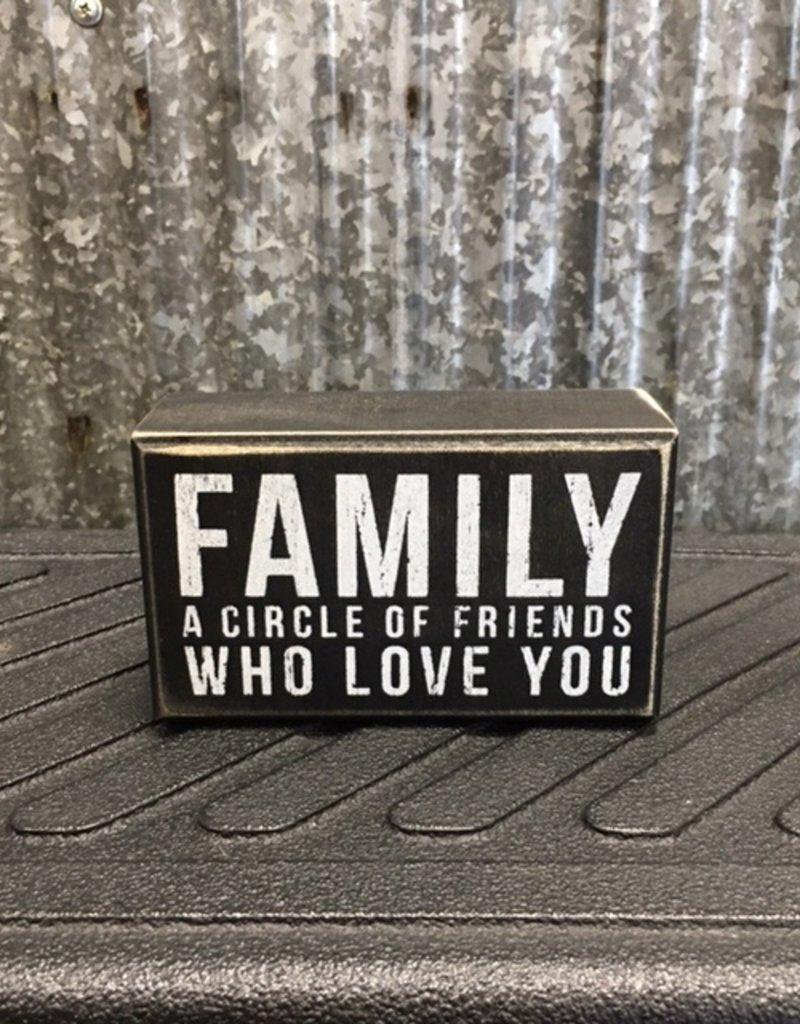 Primitives By Kathy Box Sign 'Family Circle'