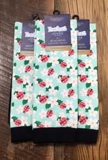 Ovation Ovation Footzees Boot Socks Ladybug