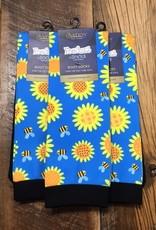 Ovation Ovation Footzees Boot Socks Ladies Sunflowers & Bumblebees