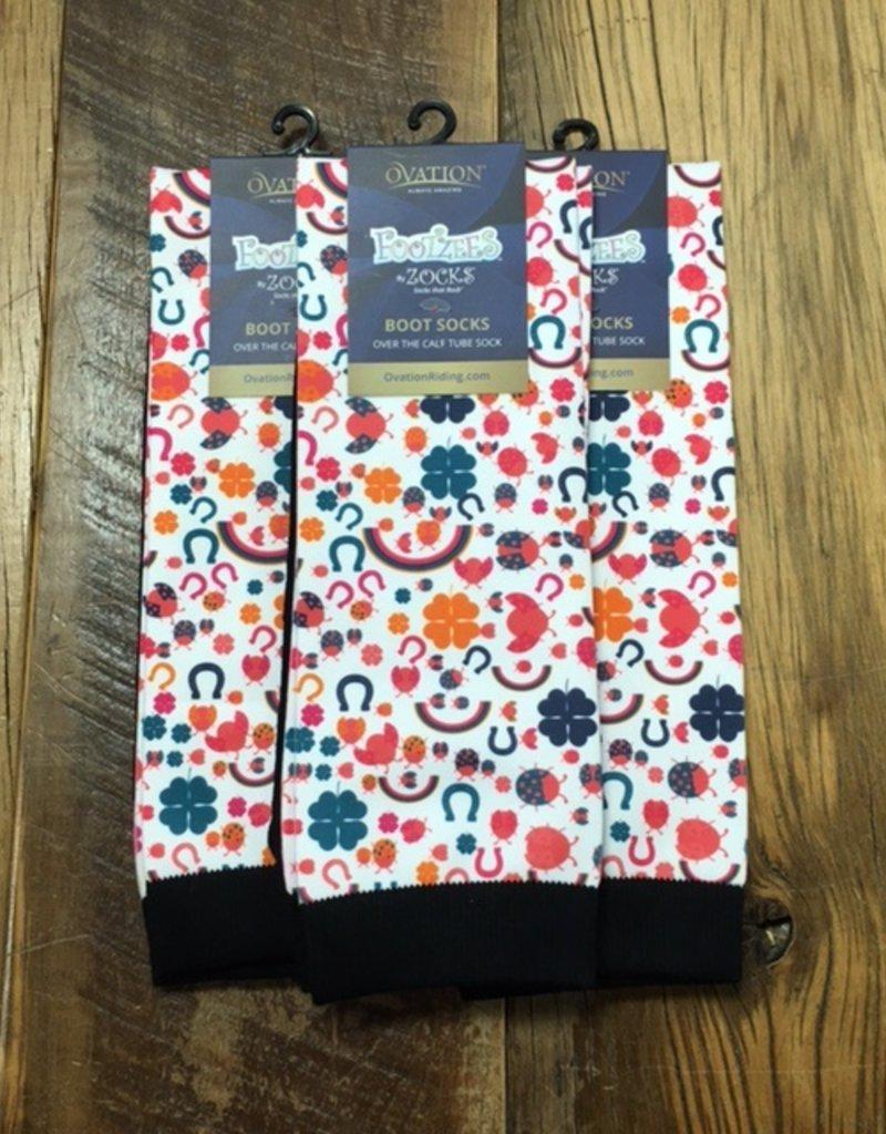 Ovation Ovation Footzees Boot Socks Lucky Charms