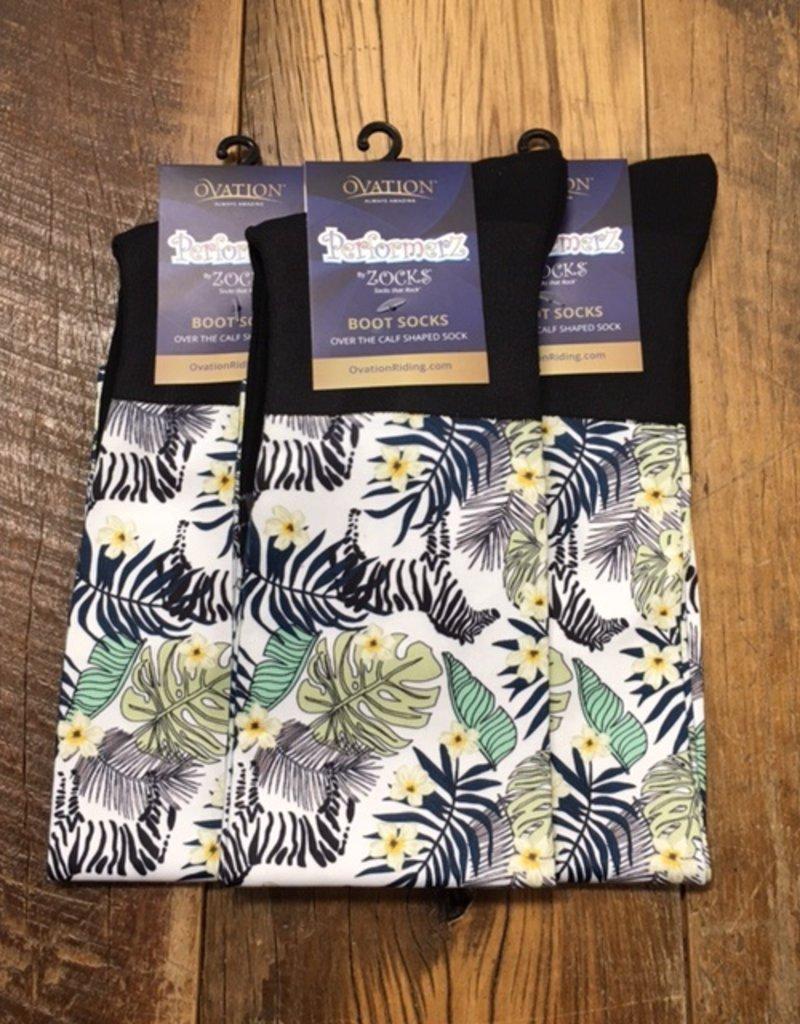 Ovation Ovation Performerz Boot Socks Zebra Safari