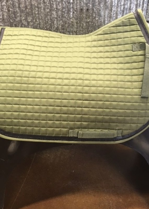 Equine Couture Equine Couture All Purpose Matte Saddle Pad Green/Black
