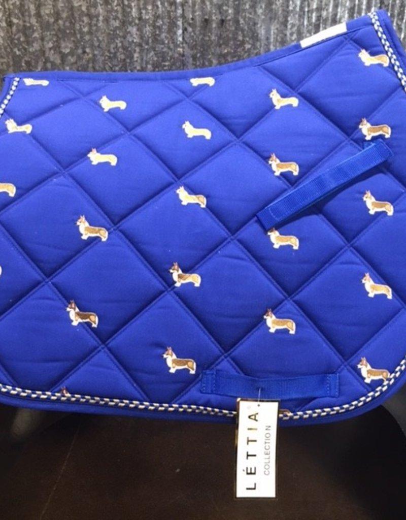 Lettia Lettia All Purpose Saddle Pad Embroidered Corgi